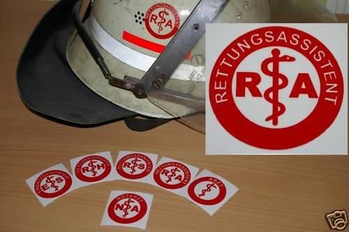 2x Helmaufkleber - RA - Helm Kennzeichnung LIEFERUNG VON MIH Medical