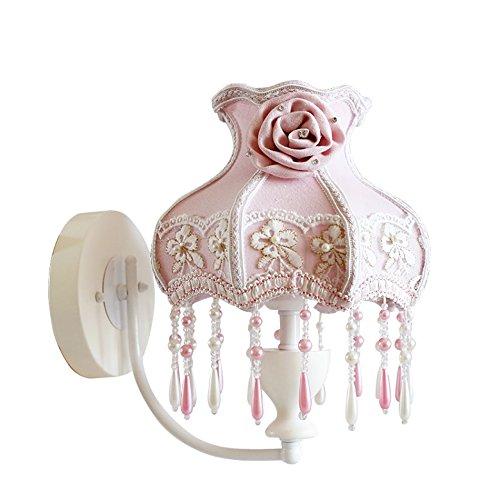 ZWL Tissu Petite Lampe Murale, Creative Filles Chambre Chevet Lampe Enfant Chambre Lumières Rose Mariage Salle Décoration Mur Lampe Unique Tête E27, 28 * 27 CM mode (taille : 28 * 27cm)