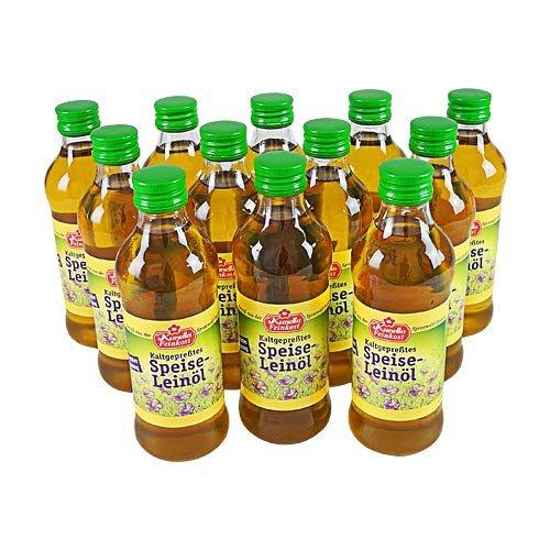 Kaltgepresstes Leinöl (12 Flaschen à 250 ml)