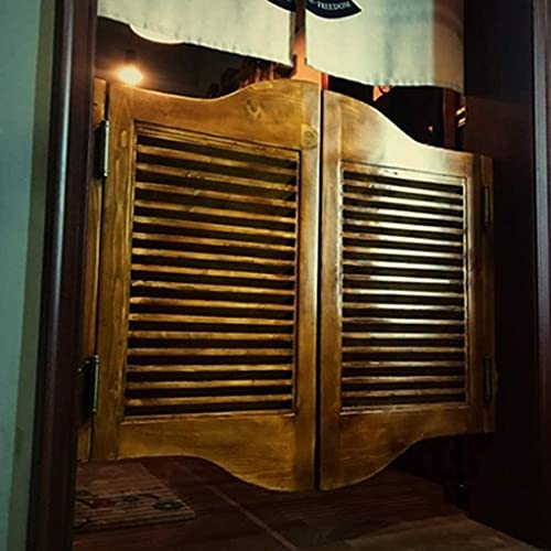 RTSFKFS Interior Doors Hinge Swing Tower Cafe Bar Pub, Solid Wood Roller Turk Foam Door Gear Taist Door Barture American Rural Home Accessories (Size : 90x80cm)