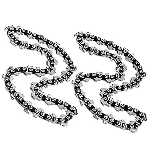 2pcs cadenas de sierra de cadena de 4 pulgadas para 4 pulgadas mini portátil recargable de la sierra de madera recorte jardín cadena de sierra Saw chain(4inch)