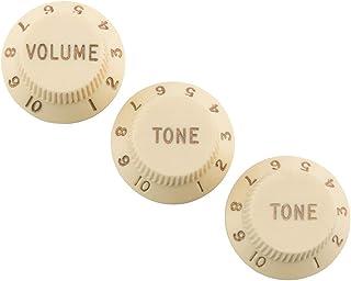 Fender Road Worn Strat Knobs Aged - Bolso, color blanco