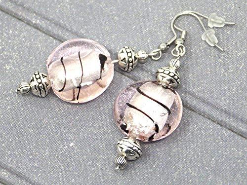 Thurcolas earrings from the Venezia range in pink Murano glass beads