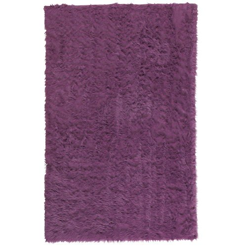 Home Decorators Collection Faux Sheepskin Area Rug, 5'X8', Purple