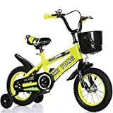 Nerioya Biciclette per Bambini, Adatte per Mountain Bike/Biciclette di 3-5-9 Anni, Biciclette per Bambini da 16 Pollici / 18 Pollici / 21 Pollici / 23,6 Pollici con Ruote Flash, Stabilizzatori,A,18in