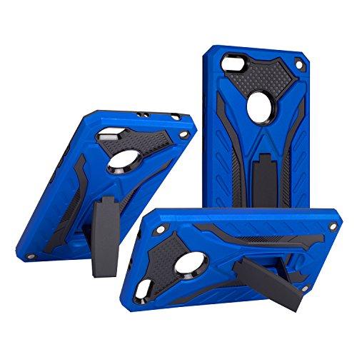 BestST Funda Huawei P9 Lite Azul+Protector de Pantalla, Híbrida Doble Capa Rugged Armor Case Choque Absorción Protección Dual Layer Bumper Carcasa con Pata de Cabra para Huawei P9 Lite,