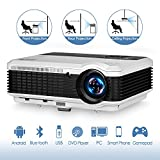 3900 Lumen Android Bluetooth LCD Video Projector-Multimedia HDMI USB RCA Audio VGA AV Support...