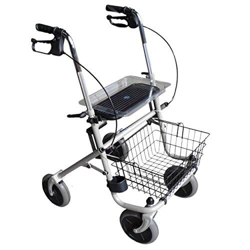 Rollator Standard Plus | Gehwagen | Gehhilfe | inkl. Einkaufskorb, Sitzfläche und Tablett.