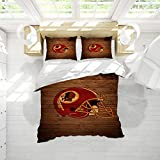 Washi-ngton Red-Skins Microfiber Duvet Cover Set Queen Size American Football Printed Bedding Sets Easy Care Bedding Cover Washed Microfiber