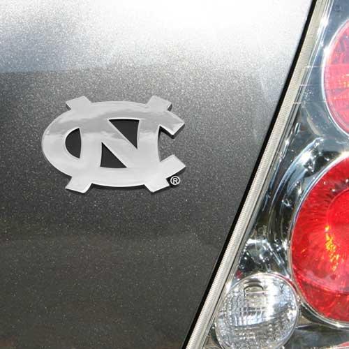 University of North Carolina Blue Color Car Emblem Official Licensed Elektroplate CAE-UNC-CLR