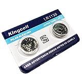 Pila de Boton x2 LR1130 AG-10 390 Alkalina Litio 1.5V caculadoras relojes.. .
