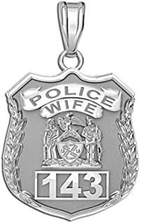 police wife badge pendant