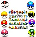 HYCY BJD - 8 Collectible Great Ball Pocket Monsters Master Super GS Pokeball + 24 Pikachu and Pokemon Random Action Figures for Children's Toys