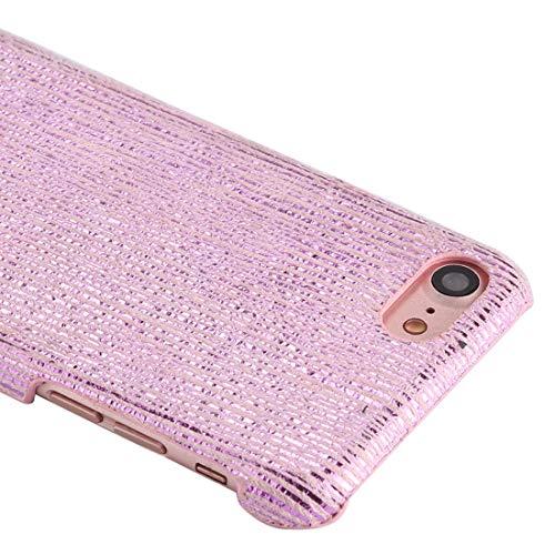Wckxy Teléfono for el iPhone 8 y 7 PC centelleo Raya el Modelo de protección Cubierta Posterior (Color : Rose Gold)