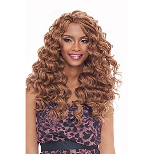 "Harlem125 Synthetic Crochet Hair Kima Braid - OCEAN WAVE 14"" (1B Off Black)"