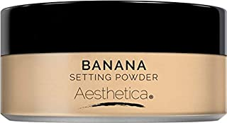 Aesthetica Banana Loose Setting Powder- Flash Friendly Superior Matte Finish Highlighter & Finishing Powder- Includes Velo...