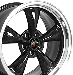 OE Wheels 18 Inch Fits Ford Mustang 1994-2004 Bullitt Style FR01 Black with Machined Lip 18x9 Rim Hollander 3448