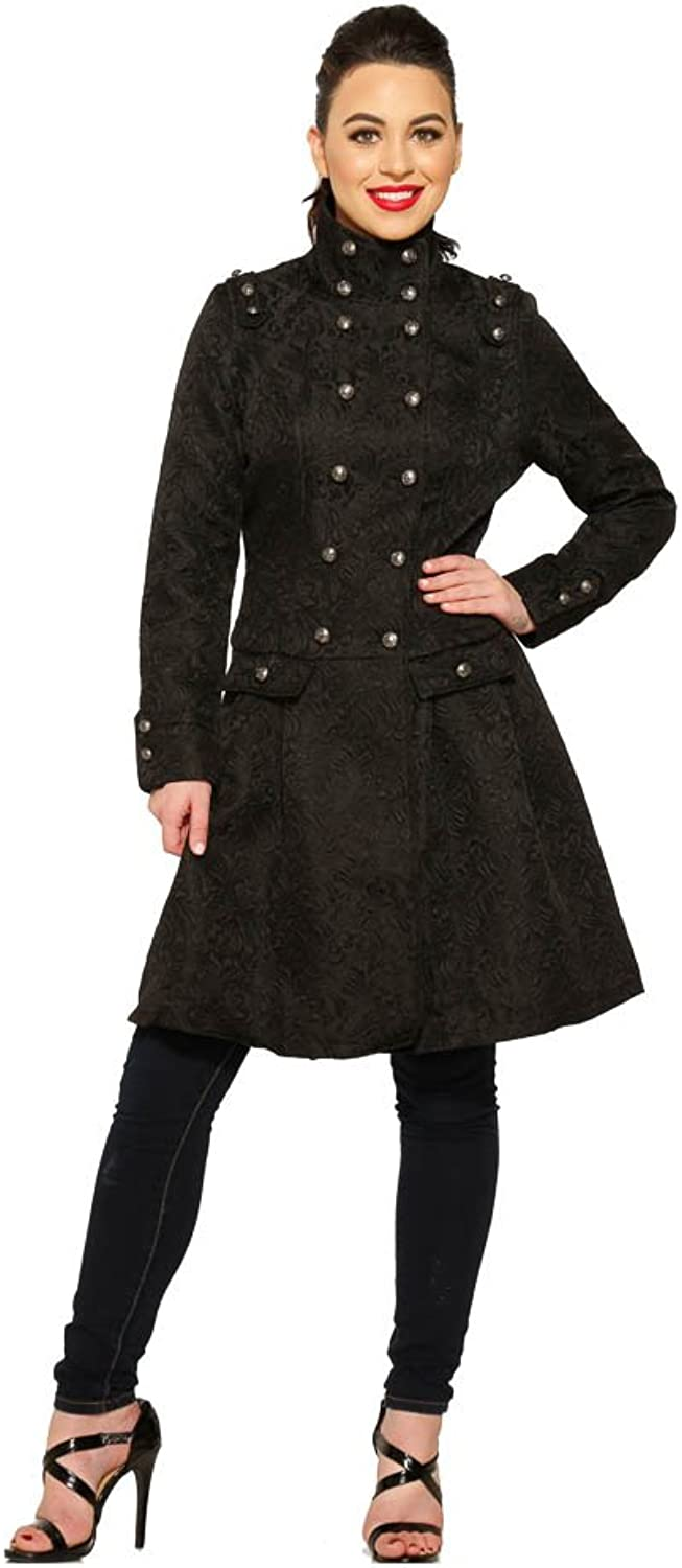 Hearts & pinks Brocade Coat (Shipped from US and US Sizes)