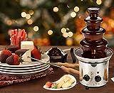 Uniquel 4 Ebenen Schokobrunnen, Süße Kaskaden aus der Schoko Fontaine Rostfreier Stahl Schokofontäne für Familien Geburtstagsfeier Feiertags Abendessen Kapazität 1800g - 3