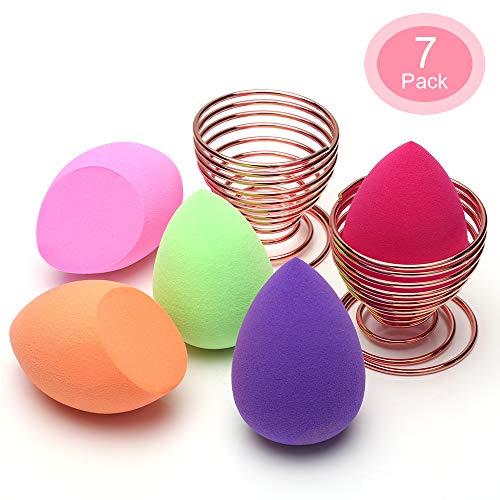 Esponja Maquillaje, O'Vinna [7-Pack] Esponjas para Maquillaje Facial de Belleza (5 Piezas...