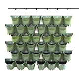 Worth Garden SELF Watering Indoor/Outdoor Vertical Wall Hangers Pots Included Wall Plant Hangers Wall Mounted Hanging Pot has 3 Pockets 36 Total in Set 3-Year Warranty