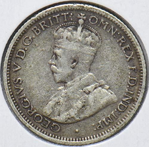 1922 AU Australia 1922 6 Pence Kangaroo animal Emu 150600 DE PO-01