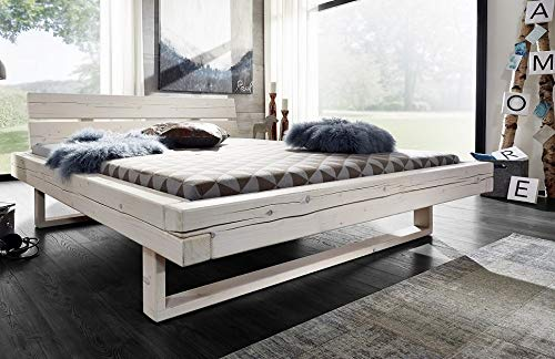 Main Möbel Balkenbett 'Jeanette' 180x200cm Fichte weiß