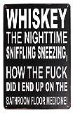 UOOPAI Whiskey The Nightime Fun Beer Saying Vintage Metal Sign (Whiskey)