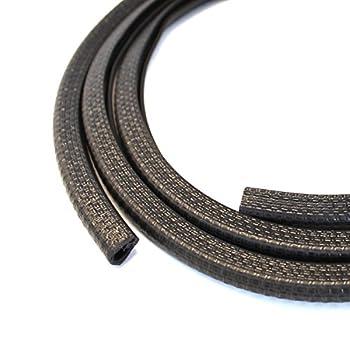 Edge Trim Black Small Fits Edge 1/16 to 1/8 Inch Length 10 Feet  3.05 Meter