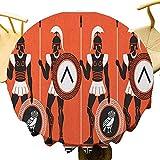 VICWOWONE Toga - Mantel de mesa redonda de 60 pulgadas, ideal para figuras históricas artísticas en la antigua Grecia, tema culturas místicas fácil de limpiar, color naranja, negro y blanco