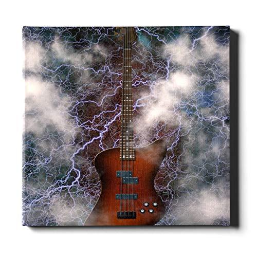 Decoración del hogar Liquidación Arte de Pared 20 x 24 Pulgadas (50x60 cm) Jazz Rock Cool Guitarra eléctrica para niño Decoraciones de Pared al Aire Libre Lienzo Pintura Decorativa Adecuada pa