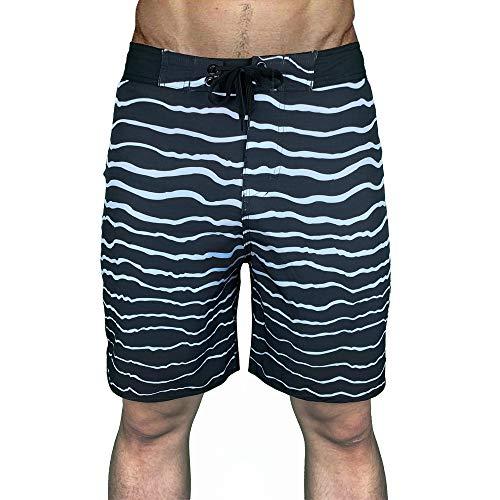 QWEASDZX Pantalones Cortos Pantalones Cortos para Hombres Bolsillo con Cordón Ajustable Pantalones Cortos De Playa De Secado Rápido Moda Casual Deportes Pantalones Cortos Al Aire Libre 36