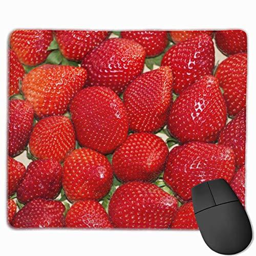 Rote Erdbeeren Reifes rechteckiges rutschfestes Gaming-Mauspad Tastatur Gummi-Mauspad für Heim- und Büro-Laptops