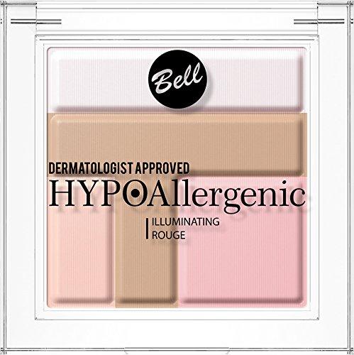 Maquillaje iluminador en polvo, de Bell, hipoalergénico, color rojoColor: 01. Dermatológicamente testado.