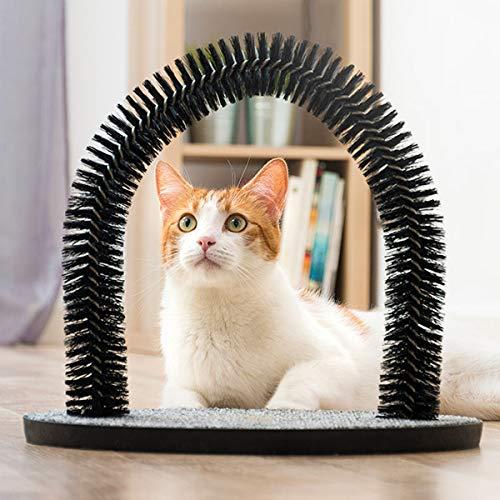 IVS Massage und Fellpflegebogen Massage Kratzbaum Massagebogen für Katzen Enthaarung