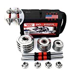 BestJ Multi-Function Dumbbell Set for Men 20KG Home Adjustable Dumbbells 30KG Women Weights Set 50KG Gym Barbell Equipment (20kg/44LB)
