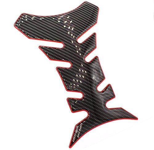 Gel Motorrad Tankpad 3D Carbon Glanz universell von Finest-Folia MR013 (Carbon Schwarz Rot Glanz)