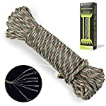 Campsnail 550 Paracord Lanyard Parachute Cord - Type III 7 Strand 100% Nylon Rope