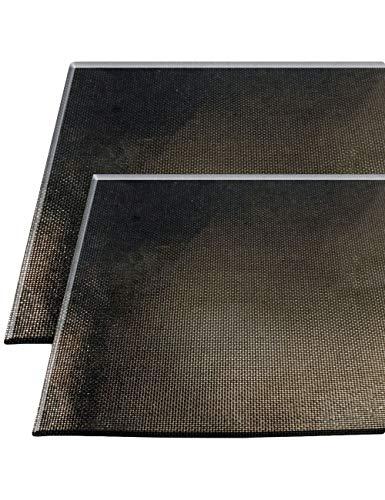 HomeTools.eu® - 2X Grill-Matte, Grill-Unterlage, Anti-Haft beschichtet, temperatur-beständig, wiederverwendbar, leicht zu Reinigen, Grill-Rost, Back-Ofen, 30x40 cm, 2er Set