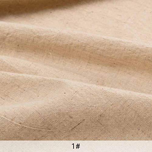 PJS ungebleichte natürliche Farbe Stoff Vintage gewaschener Baumwollstoff zum Nähen Leinwand Tasche Heimdekoration Tuch, 1, 50X75cm