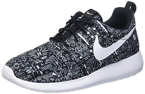 Nike Wmns Roshe One Print Prem, Scarpe da Corsa Donna, Multicolore (Nero/Bianco), 36 1/2 EU