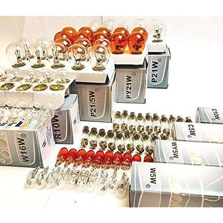 100x St 24v Lkw Nfz Auto Lampen Set 10x P21 5w 10x P21w 10x Py21w R5w Ba15s R5w Ba15d 10x R10w 10x W5w 10x