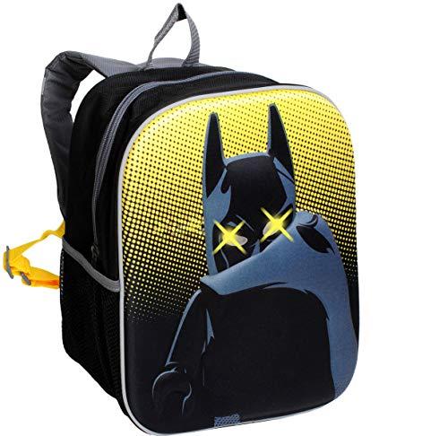 alles-meine.de GmbH 3-D Effekt & LED Licht ! _ Kinder Rucksack -  L E G O - Batman  - Tasche - wasserfest & beschichtet - Leuchtend - Kinderrucksack mit Seitenfach / groß Kind ..