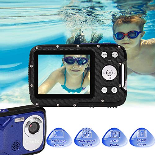 Waterproof Digital Camera Full HD 1080P Underwater Camera 16 MP Video Recorder Camcorder Point and Shoot Camera DV Recording Waterproof Camera for Snorkeling (Micro SD Card Not Included)