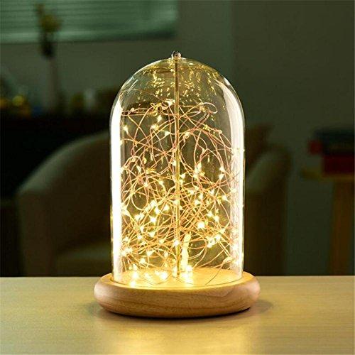 Lampe de table Moderne LED Lampe de Bureau Minimaliste Dimmable Lampe De Chevet Verre Ombre En Bois Lampe De Table USB De Charge Pour De Belles Cadeau Décorations De Bureau À Domicile