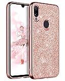 BENTOBEN Funda Compatible Xiaomi Redmi 7, Carcasa Cover Ultra Delgada Brillante Purpurina Resistente...