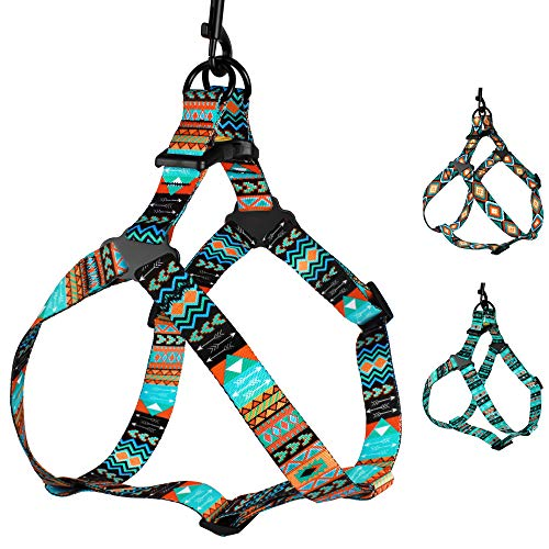 CollarDirect Adjustable Dog Harness Tribal Pattern Step-in Small Medium Large, Comfort Harness for Dogs Puppy Outdoor Walking (Pattern 2, Large)