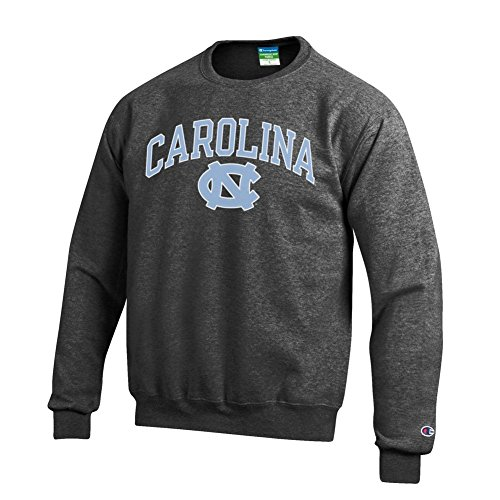 Elite Fan Shop North Carolina Tar Heels Crewneck Sweatshirt Varsity Charcoal - XX-Large
