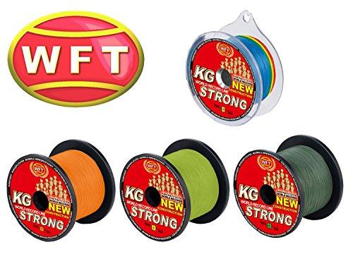 WFT KG Strong 600m 0,22mm 32kg, geflochtene Schnur, Meeresschnur, Angelschnur, Geflechtschnur, Farbe:Grün