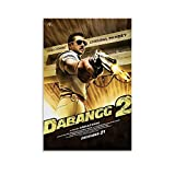 XJRG Dabangg Indian Hindi Action Comedy Movie Poster Poster Decorative Painting Canvas Wall Art Living Room Posters Bedroom Painting 24x36inch(60x90cm)